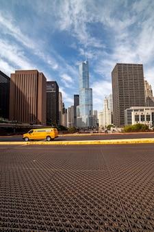 Grattacieli nel centro di chicago, trump tower