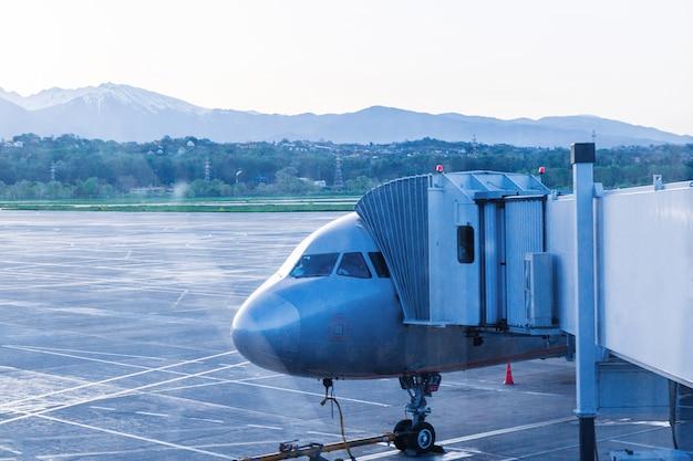 La manica è ancorata all'aereo