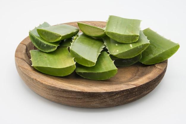 Affetta l'aloe vera una medicina erboristica molto utile