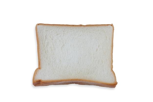 Fetta di pane isolata su sfondo bianco