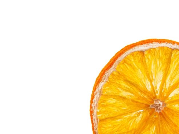 Una fetta di arancia secca