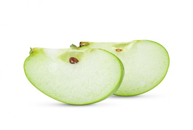 Fetta di mela verde