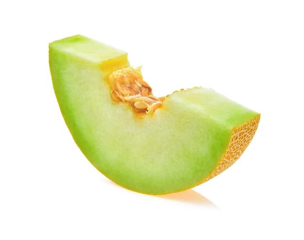 Fette di melone isolate.