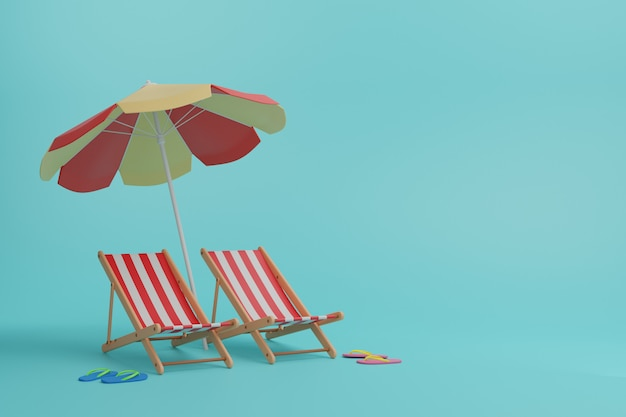 Ciabatte, lettini e ombrelloni.
