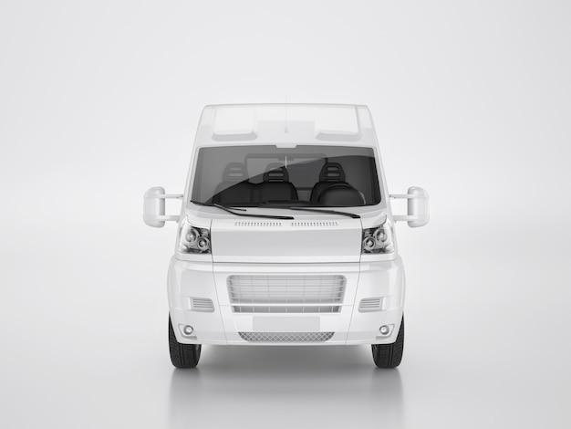 Piccolo camion su sfondo bianco. tracciato di ritaglio. rendering 3d e illustrazione.