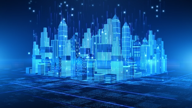 Smart city con tecnologia 5g communication