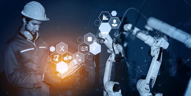 Bracci robotici industriali intelligenti per la tecnologia di produzione digitale in fabbrica