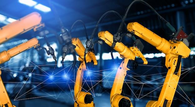 Bracci robotici industriali intelligenti per la tecnologia di produzione in fabbrica digitale