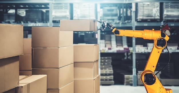 Sistema di braccio robotico intelligente per una tecnologia digitale innovativa di magazzino e di fabbrica