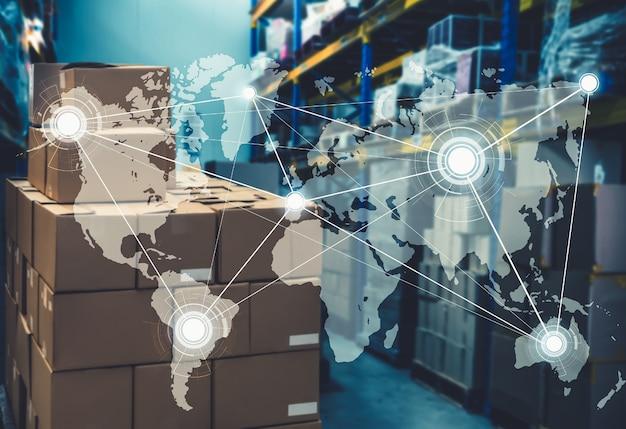 Sistema di gestione del magazzino intelligente con tecnologia innovativa dell'internet delle cose