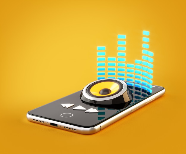 Applicazione per smartphone per l'acquisto, il download e l'ascolto di musica online
