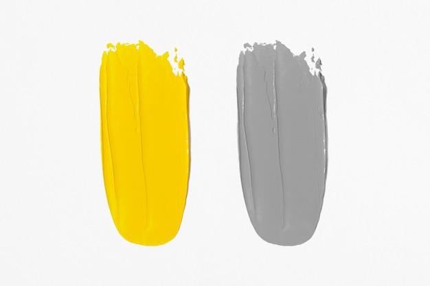 Macchie di pittura ad olio. illuminante e ultimate grey.