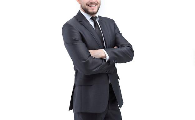 Sorridente imprenditore di successo
