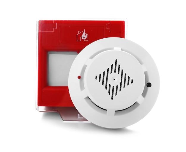 Rilevatore di fumo e pulsante manuale isolati
