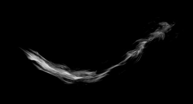 Fumo trail gioco fx design rendering su sfondo nero