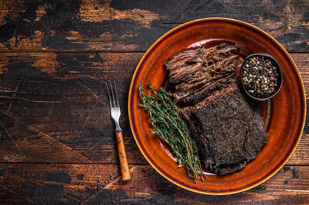 Carne di petto di manzo wagyu barbecue affumicato