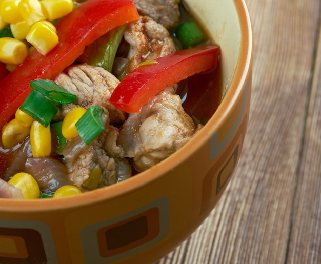 Smoky south of the border soup - zuppa in stile tex-mex