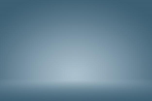 Blu scuro liscio con vignetta nera studio ben utilizzato come sfondo, relazione di attività, digitale, modello di sito web.