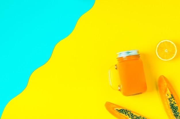 Frullati cocktail di succo d'arancia