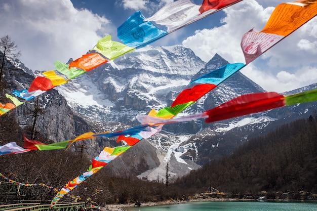 Montagna di neve, tibet