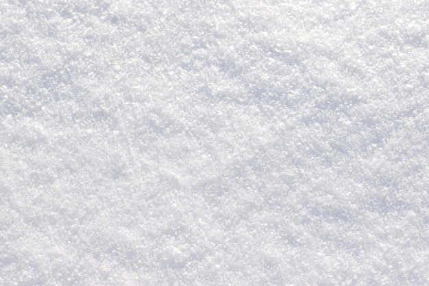 Consistenza della neve. terra innevata. focalizzazione morbida.
