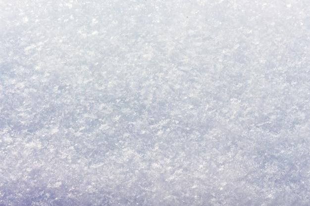 Struttura della neve la superficie della terra è ricoperta di neve