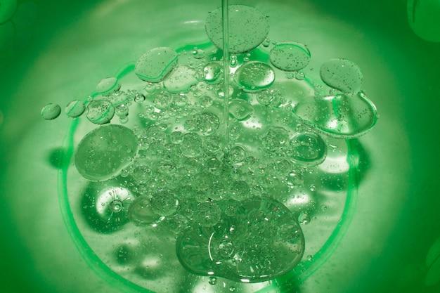 Gocce di sapone, macchie, olio, bolle