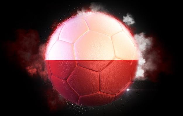 Pallone da calcio strutturato con la bandiera della polonia