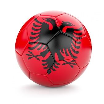 Pallone da calcio calcio con bandiera albania
