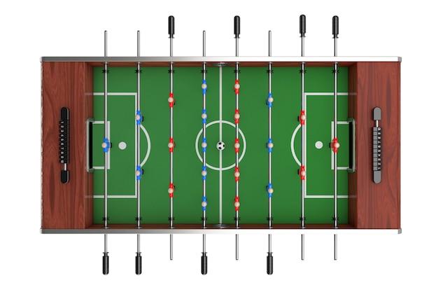 Calcio balilla gioco su uno sfondo bianco. rendering 3d