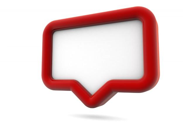 Mockup di notifica sui social media