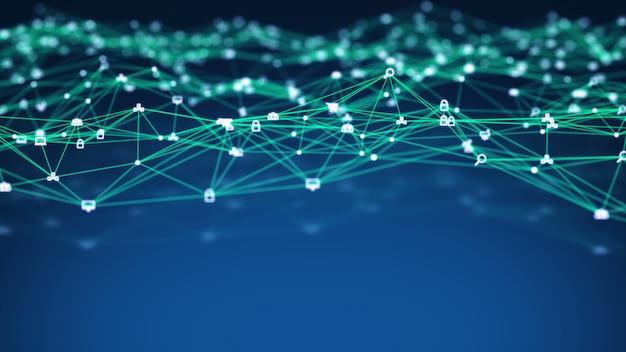 Connessioni di social network e tecnologia informatica di internet delle cose iot cloud computing big data.