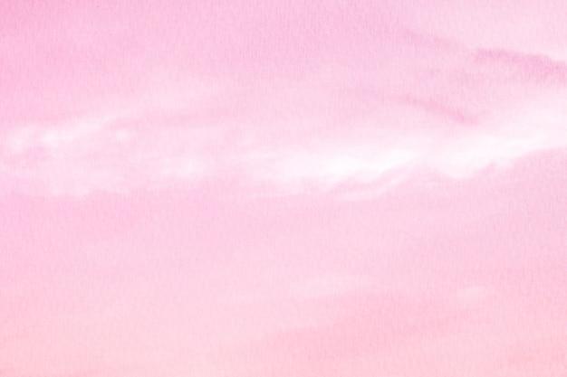 Soffice nuvola con cielo rosa