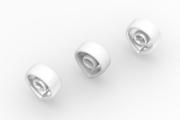 Immagine di rendering 3d posizione bordo morbido