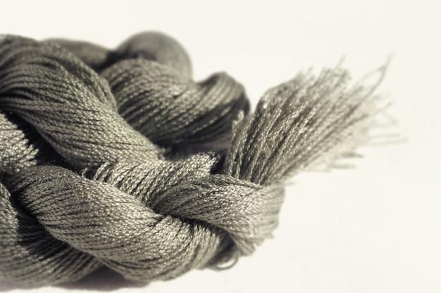 Soft focus di filo di cotone per sfondo astratto, dai toni di colore.