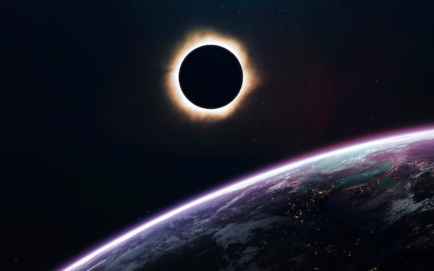 Eclissi solare nel buio