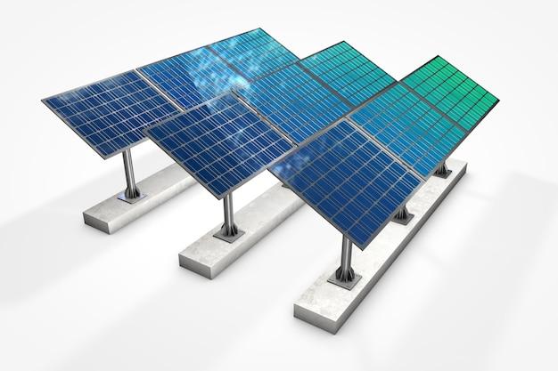Pannello solare su sfondo bianco