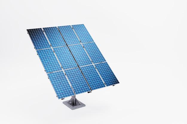 Pannello solare con illustrazione 3d bianca