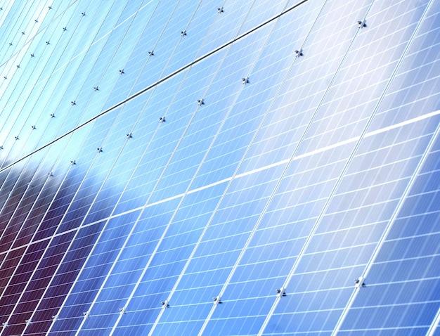 Sfondo di pannelli solari. fonte di energia rinnovabile fotovoltaica