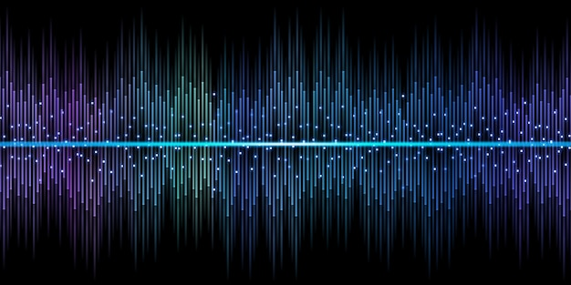 Equalizzatore dell'onda sonora dj 3d illustrazione scintilla di luce