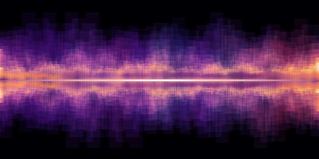 Effetto sonoro equalizzatore dell'onda sonora illustrazione 3d del dj