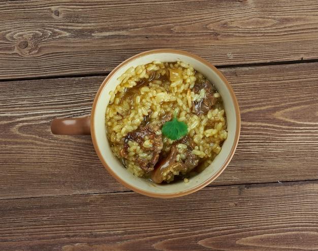 Soupe courte - zuppa densa di agnello francese