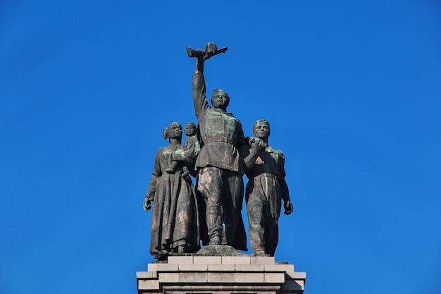 Monumento dell'esercito sovietico a sofia, bulgaria