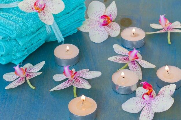 Evento spa con candele accese