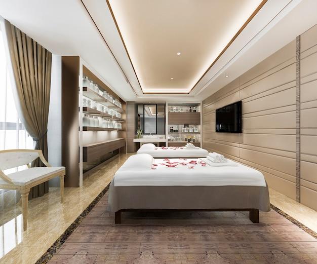 Spa e sala massaggi benessere nella suite dell'hotel