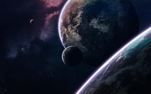 Arte spaziale, fantascienza incredibilmente bella universo infinito