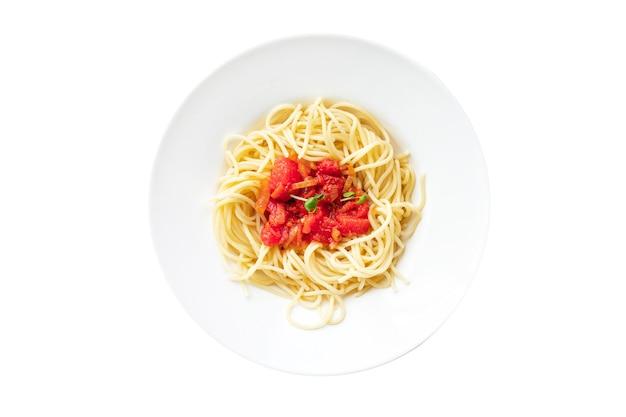 Spaghetti al pomodoro pasta salsa bolognese verdure salsa cucina italiana classica