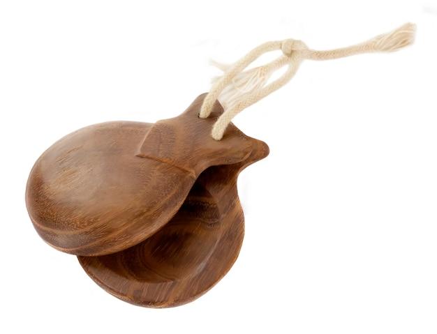 Le castanuelas spagnole sono uno strumento a percussione utilizzato nel flamenco, la danza sevillanas in spagna