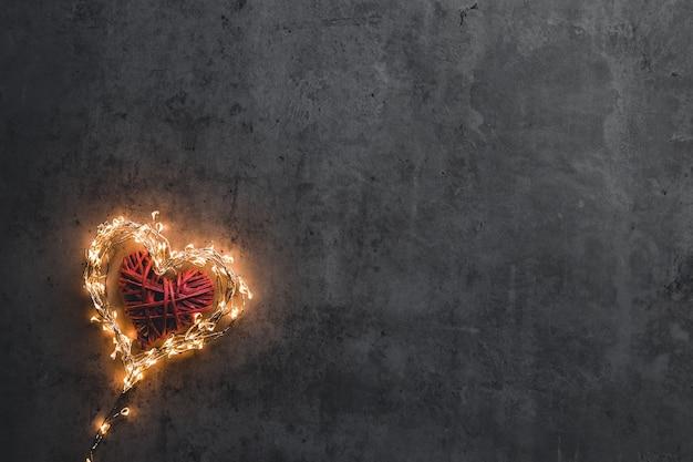 Un cuore scintillante. san valentino.