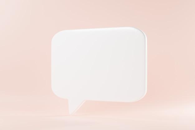 Parlare bolla testo parlare chat scatola pensiero segno simbolo 3d rendering illustrazione